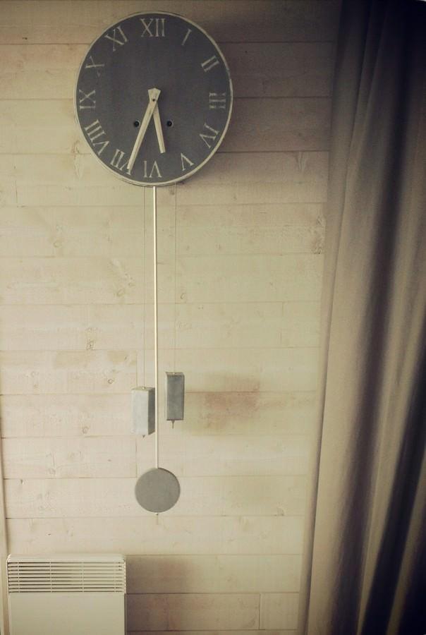 Horloge comtoise murale patin eheure cr ation - Horloge murale personnalisable ...