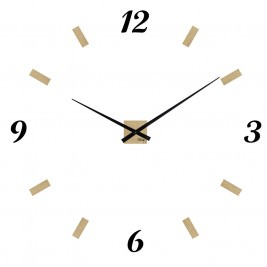 Console en acier brut heure cr ation - Grande horloge murale design ...