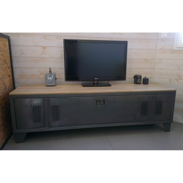 meuble tv bois blanc casse. Black Bedroom Furniture Sets. Home Design Ideas