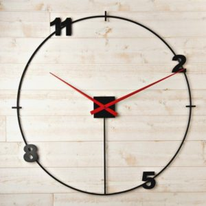 grande horloge geante noir