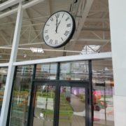 horloge géante double faces