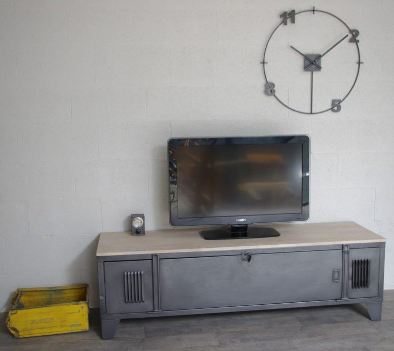 meuble tv industriel vestiaire