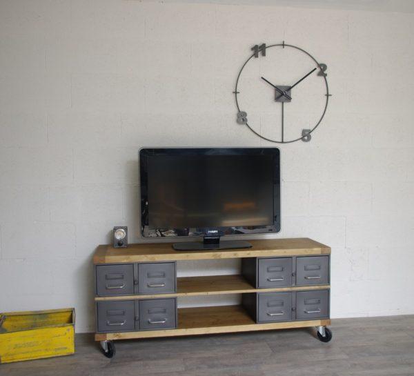 meubles tiroirs métalliques