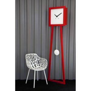 horloge-comtoise design moderne rouge
