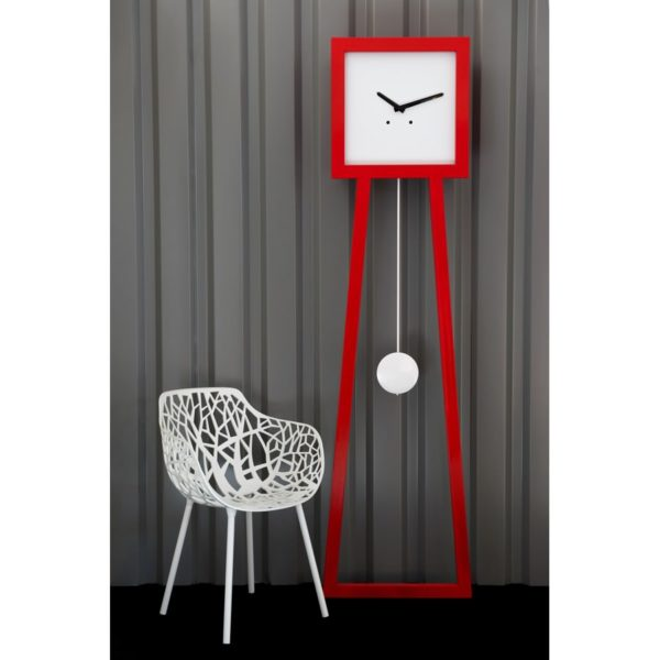 horloge comtoise design rouge