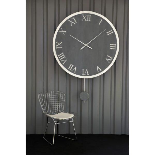 horloge comtoise ronde patine et zinc