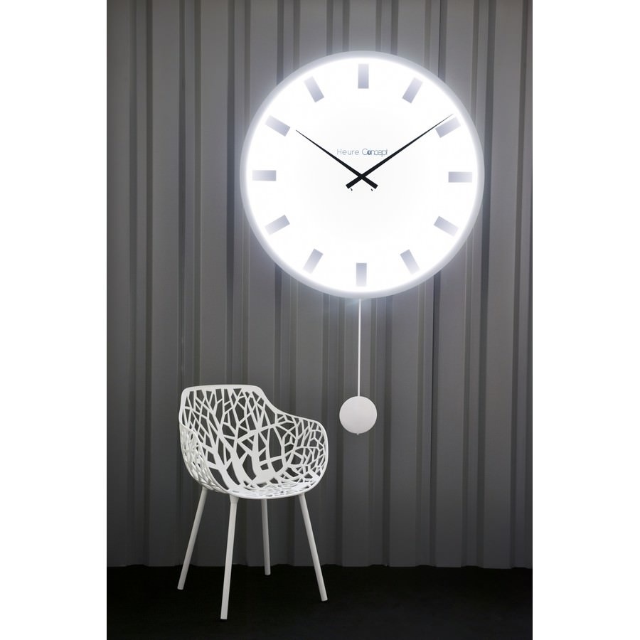 horloge de gare lumineuse et comtoise g ante heure cr ation. Black Bedroom Furniture Sets. Home Design Ideas