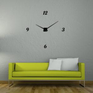 grande horloge murale géante en plexi design