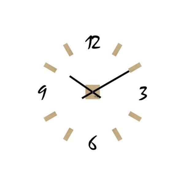 horloge design géante murale avec chiffres en plexi
