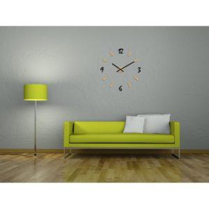 horloge design géante murale et chiffres en plexiglass
