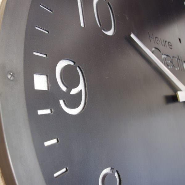 Horloge murale g ante indus style industriel en acier - Horloge style industriel ...