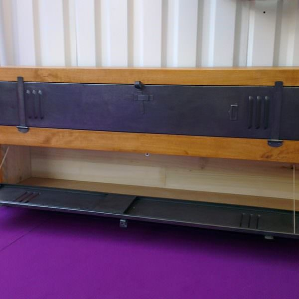 Meuble tv bois sur mesure solutions pour la d coration for Meuble acier sur mesure