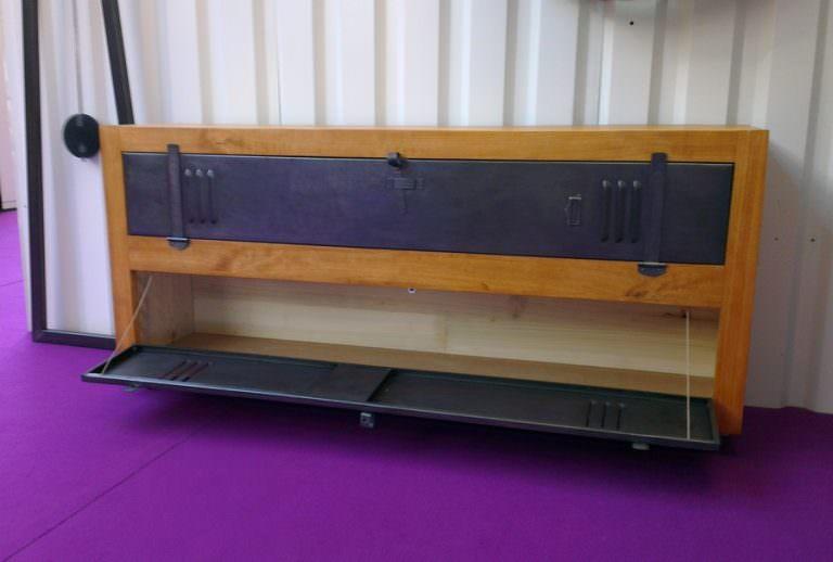 meuble tv buffet sur-mesure bois acier
