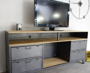 meuble tv sur mesure industriel