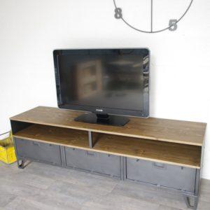 meuble-tv-metal-industriel-3-clapets-militaires