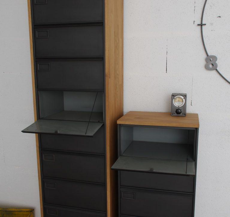 Colonne clapets meuble clapets administratifs m tal restaur - Colonne rangement bureau ...