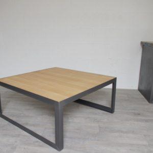table basse style industriel sur mesure