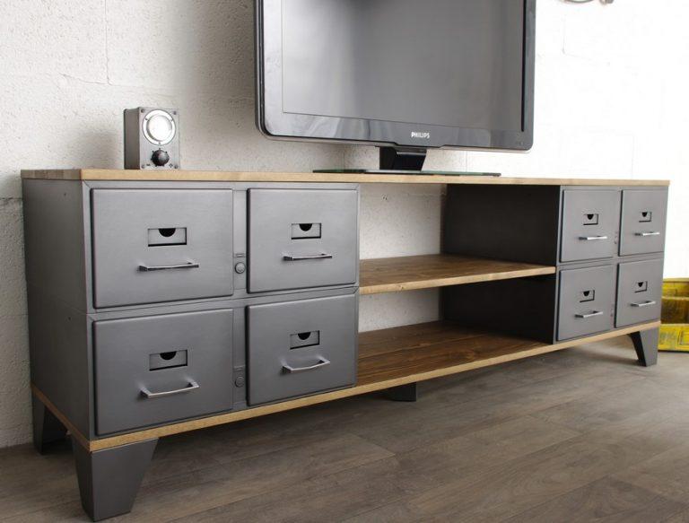 mobilier industriel tiroirs