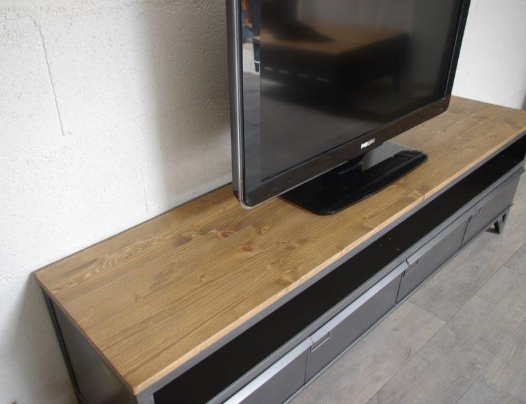 meuble-tele-bois-metal-industriel