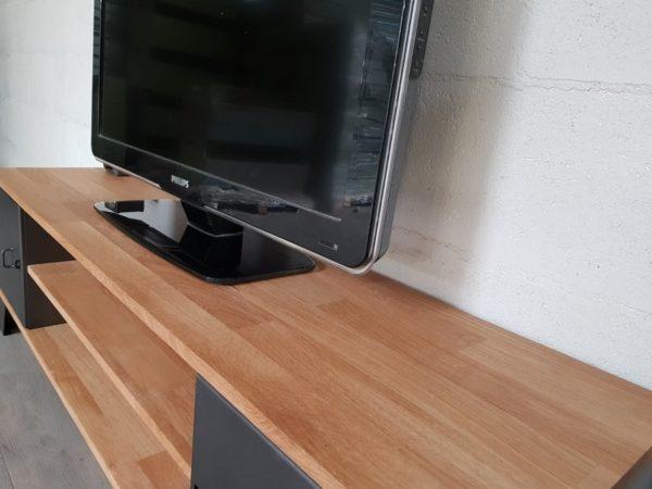 meuble tv style industriel new-york chene lamelle 1