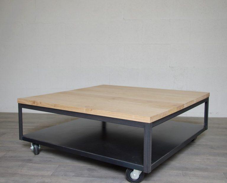 table basse industrielle sur mesure ref seattle heure cr ation. Black Bedroom Furniture Sets. Home Design Ideas