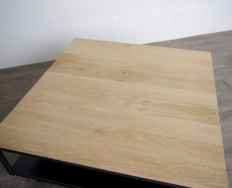 table basse industrielle acier