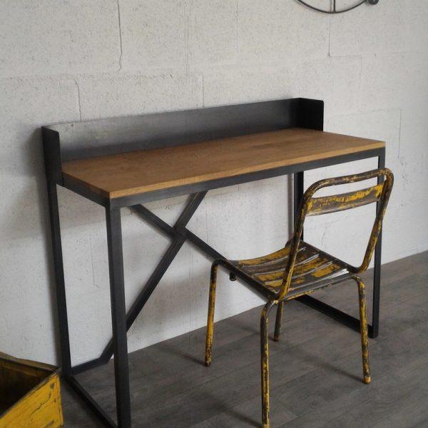 bureau style industriel sur mesure ref boston heure cr ation. Black Bedroom Furniture Sets. Home Design Ideas