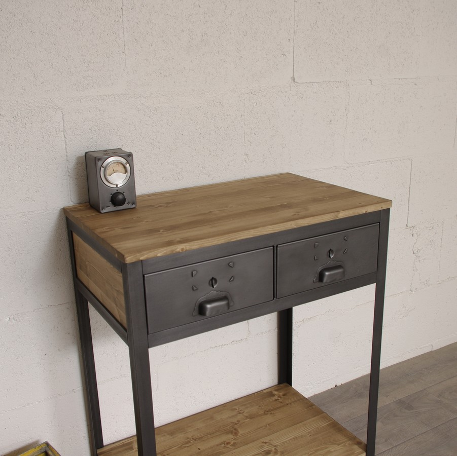 console industrielle sur mesure ref cleveland heure cr ation. Black Bedroom Furniture Sets. Home Design Ideas