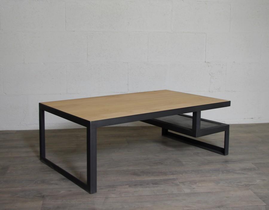 table basse industrielle sur mesure ref chicago ch ne heure cr ation. Black Bedroom Furniture Sets. Home Design Ideas