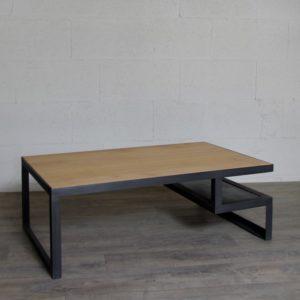 Meuble tv industriel acier bois fabrication artisanale - Table basse style industrielle ...