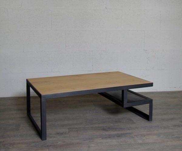 table basse industrielle sur-mesure