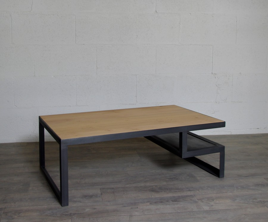 table basse industrielle sur-mesure