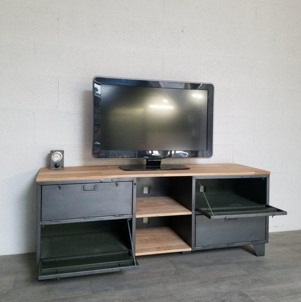 casier miltaire en meuble tv