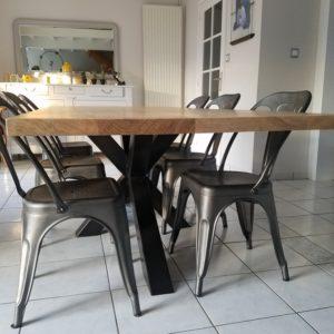 table de repas style industriel