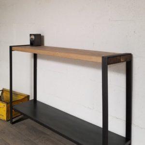 console bois metal sur-mesure mineapolis