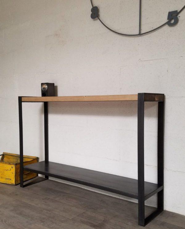 console bois metal sur mesure