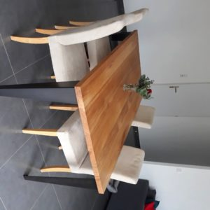 table de repas style industriel sur-mesure