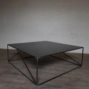 table acier style industriel