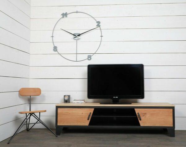 meuble tv style industriel portes coulissantes